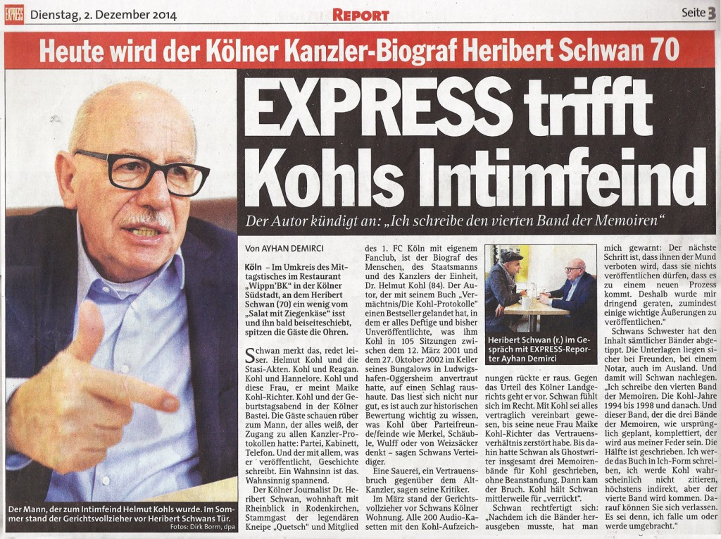 Express trifft Kohls Intimfeind
